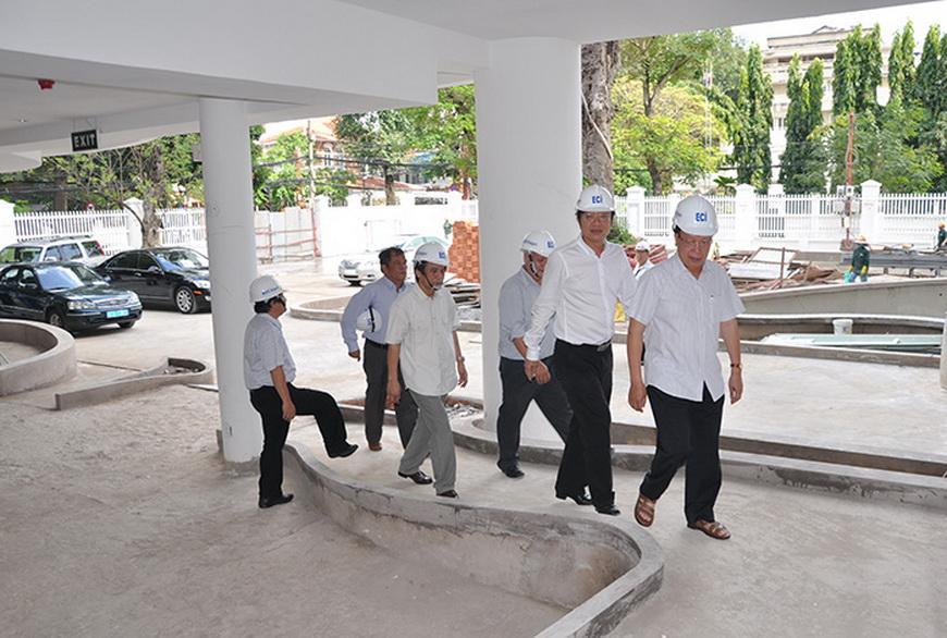 nguyễn hồng quân, nguyên bộ trưởng bộ xây dựng thăm eci saigon